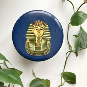 Vintage Tin Container King Tut Egypt Laura Secord